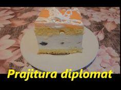 Prajitura diplomat reteta - YouTube Romanian Food, Cake, Sweet, Youtube, Recipes, Dessert Recipes, Pastel, Kuchen, Cakes