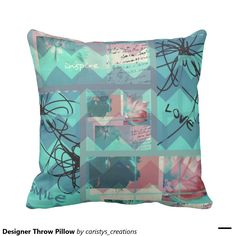 Shop Designer Throw Pillow created by caristys_creations. Designer Throw Pillows, Decorative Throw Pillows, Animal Skulls, Blue Pillows, Organizing Your Home, Contemporary Decor, Gifts For Dad, Pink And Green, Cushions