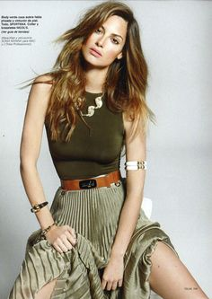 shades of olive green. Nice surprise for summer-wear