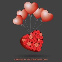 HEART-WITH-RED-BALLOONS-VECTOR