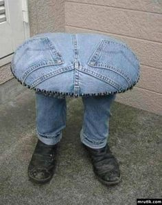 Jeans chair. One of a Kind