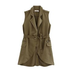 Veste sans manches Femme (920 MXN) ❤ liked on Polyvore featuring outerwear, vests, brown vest, brown waistcoat and vest waistcoat
