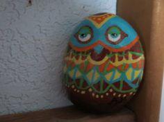 peint les rochers hibou art populaire plage par hotrockartbyangie