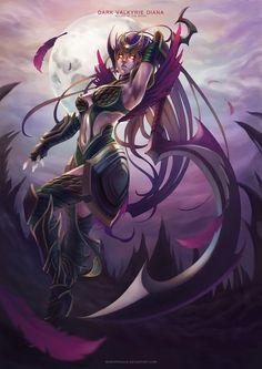Dark Valkyrie Diana from League Of Legends - monorirogue