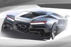 Lamborghini Cnossus Concept - Design Sketch