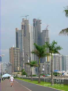 Walking the Cinta Costera, Panama City, Panama