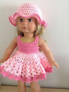 PDF Gehäkelte Muster für 18 Zoll-Puppe American von petitedolls