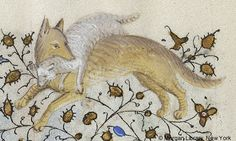 Fable: Wolf and Lamb | Book of HoursFrance, Paris, ca. 1420-1425 | The Morgan Library & Museum