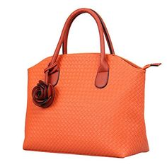 Hynes Victory Woven Pattern Tote Handbag Orange >>> Check this awesome product by going to the link at the image.