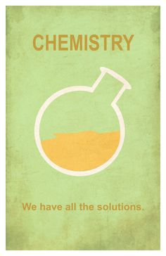 Chemistry: We have all the solutions. // poster print by EskimoChateau