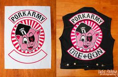 PORK ARMY Back patches!!!