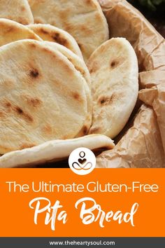 This article is shared with permission from our friends at PaleoHacks. Warm, fluffy pita bread made with 5 gut-friendly ingredients. Pain Pita Sans Gluten, Gluten Free Pita Bread, Gluten Free Flour, Gluten Free Cooking, Keto Bread, Bread Baking, Gluten Free Bread Brands, Gluten Free Flatbread, Grain Free Bread