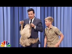 The Crocodile Hunter was one of my favorite shows growing up, Steve Irwin's son, Robert, is his clone! This is amazing. | Robert Irwin and Jimmy Cuddle a Sloth - YouTube