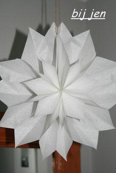 bij jen: Papiersterne aus Butterbrottüten