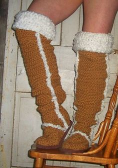 Crochet Pattern Boots   Thigh High Uggs check by winterolive