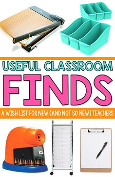 9 useful finds for new (and not so new) teachers. These classroom wish list items are great for the long term. Lots of great finds for back to school!