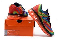 brand new 52002 2909a Nike Air Max 2016 Women Mesh Rainbow Shoes