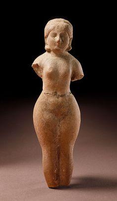 Pakistan, Sirkap or Charsadda, Gandhara region  Fertility Goddess, 1st century  Sculpture; Terracotta, Terracotta, 6 x 1 3/4 x 1 1/8 in. (15.24 x 4.45 x 2.86 cm)