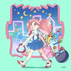 Diana Sailor Moon, Sailor Moon Fan Art, Sailor Chibi Moon, Sailor Moon Drops, Sailor Moon Collectibles, Sailor Moon Villains, Pink Moon, Sailor Scouts, Magical Girl