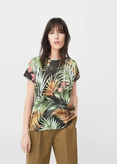 Printed t-shirt -  Women | MANGO USA