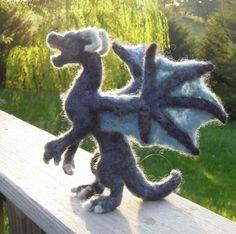 Needle Felt Dragon. by MarchHareCreations on Etsy, $39.00