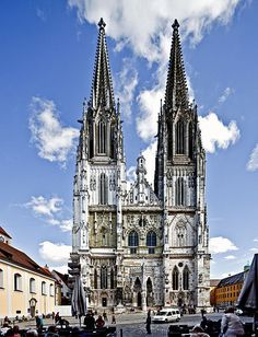 Regensburg Dom. Oh, the memories I have of wandering around hopelessly am nearly 6am after losing my wallet and ending up on these very steps.
