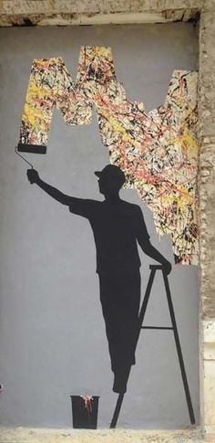 This artwork expresses creativity and hope behind a wall, we can find it. This is a great artwork I wish for people to see.