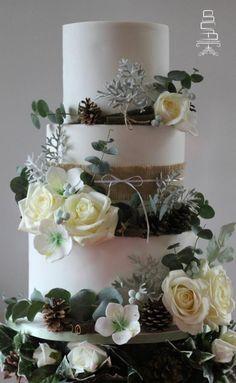 Winter Wedding Cake by Sophia's Cake Boutique - http://cakesdecor.com/cakes/228849-winter-wedding-cake