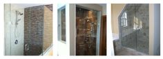 These are some pretty creative and unique shower enclosures. I like how they make the most of the space while not compromising on the overall look of the shower. Even though they are a little odd shape their design adds a lot of value to these bathrooms. Glass Shower Doors, Glass Door, Weird Shapes, Shower Enclosure, Master Bathroom, Mirror, Gallery, Bathrooms, House