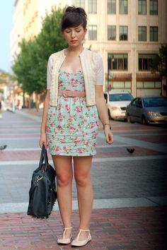 short sleeve sweater, summer dress, belt, so cute
