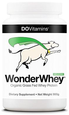 WonderWhey Organic Whey Protein Powder - Non-GMO Project Verified, Grass-Fed, USDA Certified Organic, Unflavored 2lbs