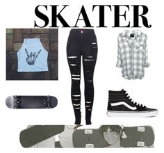 """sk8er"" by dark-soul-xd on Polyvore featuring Vans and 2LUV"