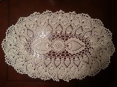 Oval Pineapple Doily Part 2 - YouTube