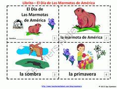 Groundhog Day - Spanish Libritos El Dia de Las Marmotas de America product from Sue-Summers on TeachersNotebook.com