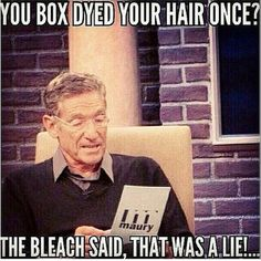 Don't use box dye! Come see me for great color while keeping your hair healthy and save off your color service! Hairdresser Quotes, Hairstylist Quotes, Cosmetology Quotes, Salon Quotes, Hair Quotes, Hairstylist Problems, Box Dye, Champion, Blessed