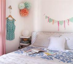 Pastel bedroom, cute bunting | @giochidicarta