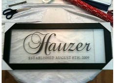 Family established name plaque by jhauzer21 on Etsy, $65.00