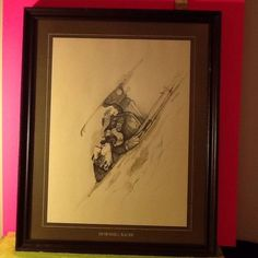 Vintage 1974, Downhill Racer Print By Gary Patterson, Framed