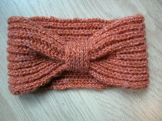 photo tricot modèle tricot headband 14