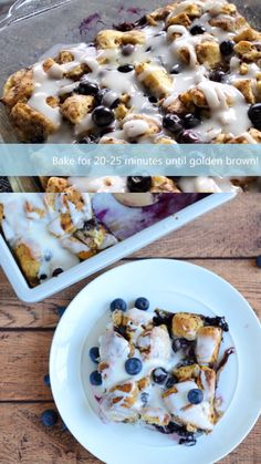 Cinnamon Roll Blueberry French Toast Bake- easy breakfast idea to feed a crowd. Breakfast idea for kids or family. Recipe using fresh blueberries. breakfast ideas for kids videos Cinnamon Roll Blueberry French Toast Bake Breakfast For A Crowd, Clean Eating Breakfast, Best Breakfast, Breakfast Recipes, Breakfast Casserole, Fun Easy Breakfast Ideas, Brunch Ideas For A Crowd, Breakfast Crockpot, Breakfast Quiche