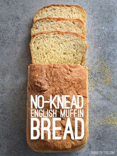 No Knead English Muffin Bread – Budget Bytes No Knead English Muffin Bread – This homemade English Muffin Bread requires no special machines and no difficult kneading to create a soft and delicious loaf. English Muffin Bread, Homemade English Muffins, Dinner Rolls, Scones, Bread Recipes, Baking Recipes, Amish Recipes, Muffin Recipes, Biscuits