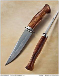 Nick Wheeler, bladesmith, Winlock, Washington USA -