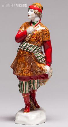 "1936 ""Prince Ivan"" figurine from Russian folk tale ""Firebird"". GFZ State Porcelain Factory.  H: 23cm"