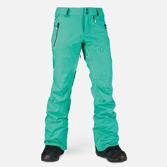 Velvet Stretch Pant - Pants - Women - Snow size m, color green