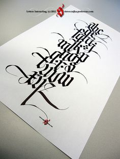 Steve Czajka lettering. (Steve offers an ebook and video training teaching his stylized Fraktur.)