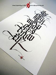 Steve Czajka lettering