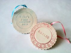Baby's First Christmas Ornament Personalized by DuTillandDaughters