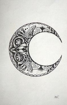 boho moon tattoos - Recherche Google