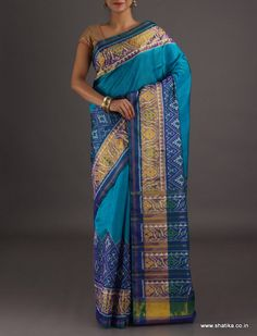 Surabhi Plain with Rangoli Border #PatolaSilkSaree