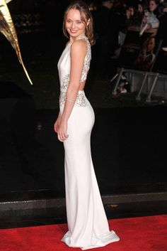 Laura Haddock at The Hunger Games premiere...